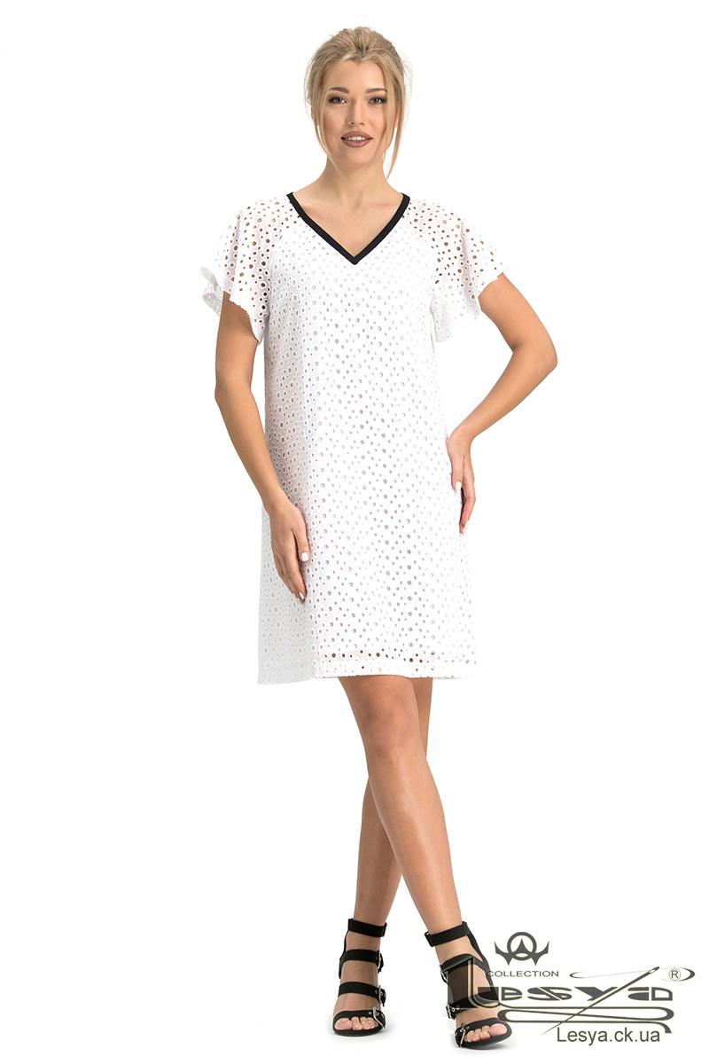 Біле літнє бавовняне плаття з вишивкою Lesya Наміб.
