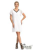 Белое летнее хлопковое платье с вышивкой Lesya Намиб.