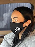 Брендовая защитная маска Adidas D9431 черная