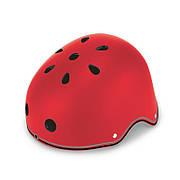 Шлем защитный 48-53см красный детский GLOBBER с фонариком (XS/S)
