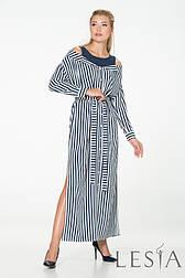Весеннее женское макси-платье в полоску Lesya Нанси.