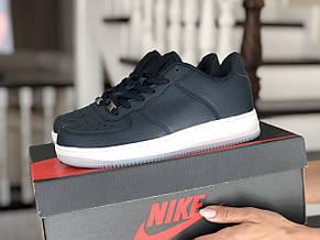 Весенние женские кроссовки Nike Air Force, темно синие, фото 3