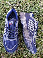 Темно синие сеточные подростковые кроссовки , 38, 41 размеры, фото 1