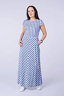 Длинное платье в полоску Tell 6791
