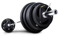 Штанга обрезиненная SmartGym 115 кг с грифом 220 см - 50 мм, фото 1