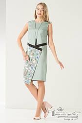 Літній комбіноване плаття з асиметричним низом Lesya Шале.