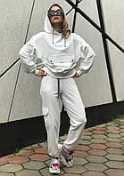 Женский молочный модный спортивный костюм (оверсайз) Rocamoon