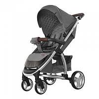 Детская прогулочная коляска CARRELLO Vista CRL-8505 Steel Gray в льне + дождевик