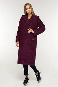 Женское демисезонное пальто с капюшоном (р. 44-54) арт. 1120 Тон 102