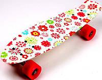 """Penny Board  """"White Flowers"""", фото 1"""