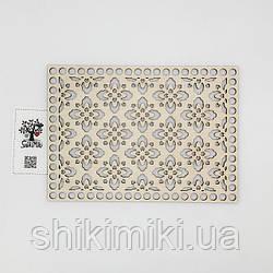 Заготовка из фанеры ажурная прямоугольная -17 (17*24 см)
