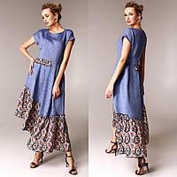 Летнее платье из льна в стиле бохо Raslov 116