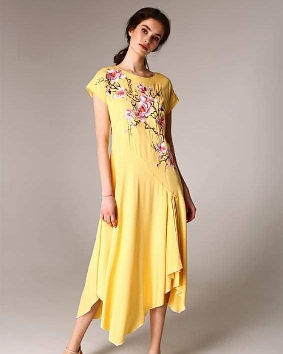 Літнє плаття з попліну з вишивкою Raslov 115