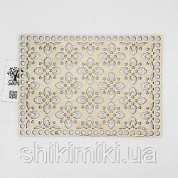 Заготовка из фанеры ажурная прямоугольная -17 (20*28 см)