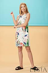 Літній молочне сукня з принтом папуги Lesya Кипрей.
