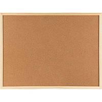Доска пробковая 90 х 120 деревянная рамка из сосны