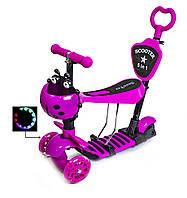 "Самокат Scooter ""Божа корівка"" 5in1 Pink, фото 1"