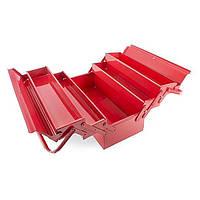 Ящик для инструментов металлический 450мм, 5 секций INTERTOOL HT-5045
