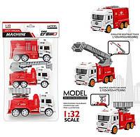 Набор игрушечных инерционных пожарных машинок JW 567-008 A