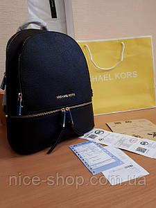 Рюкзак Michael Kors черный кожаный