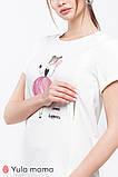 Футболка для беременных и кормящих DONNA NR-20.073 молочная, фото 3