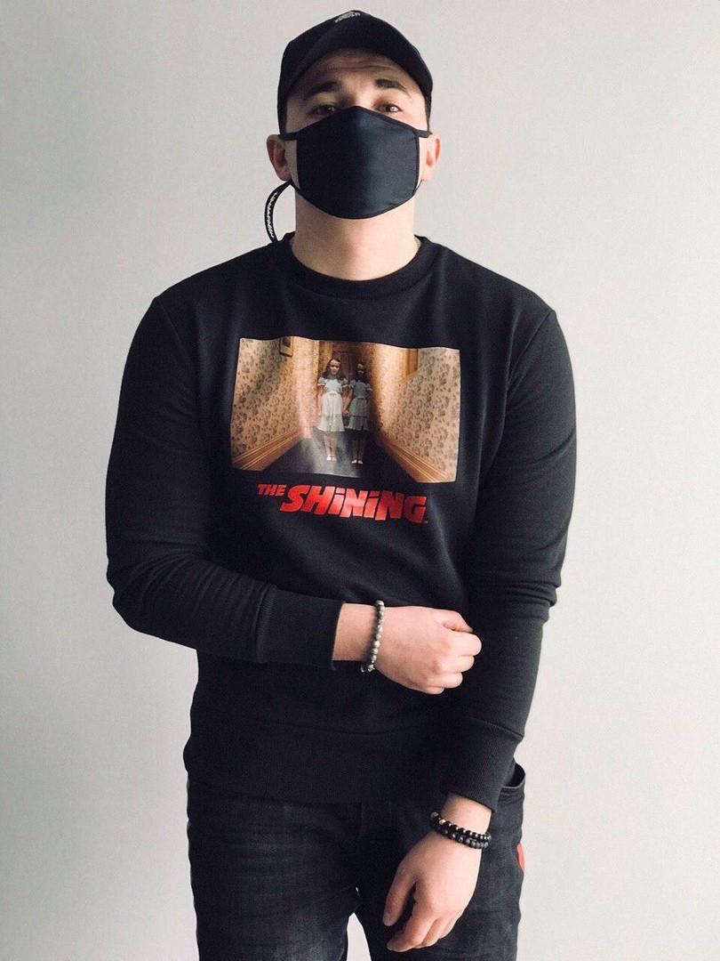 Чоловічий світшот,з принтом,Black