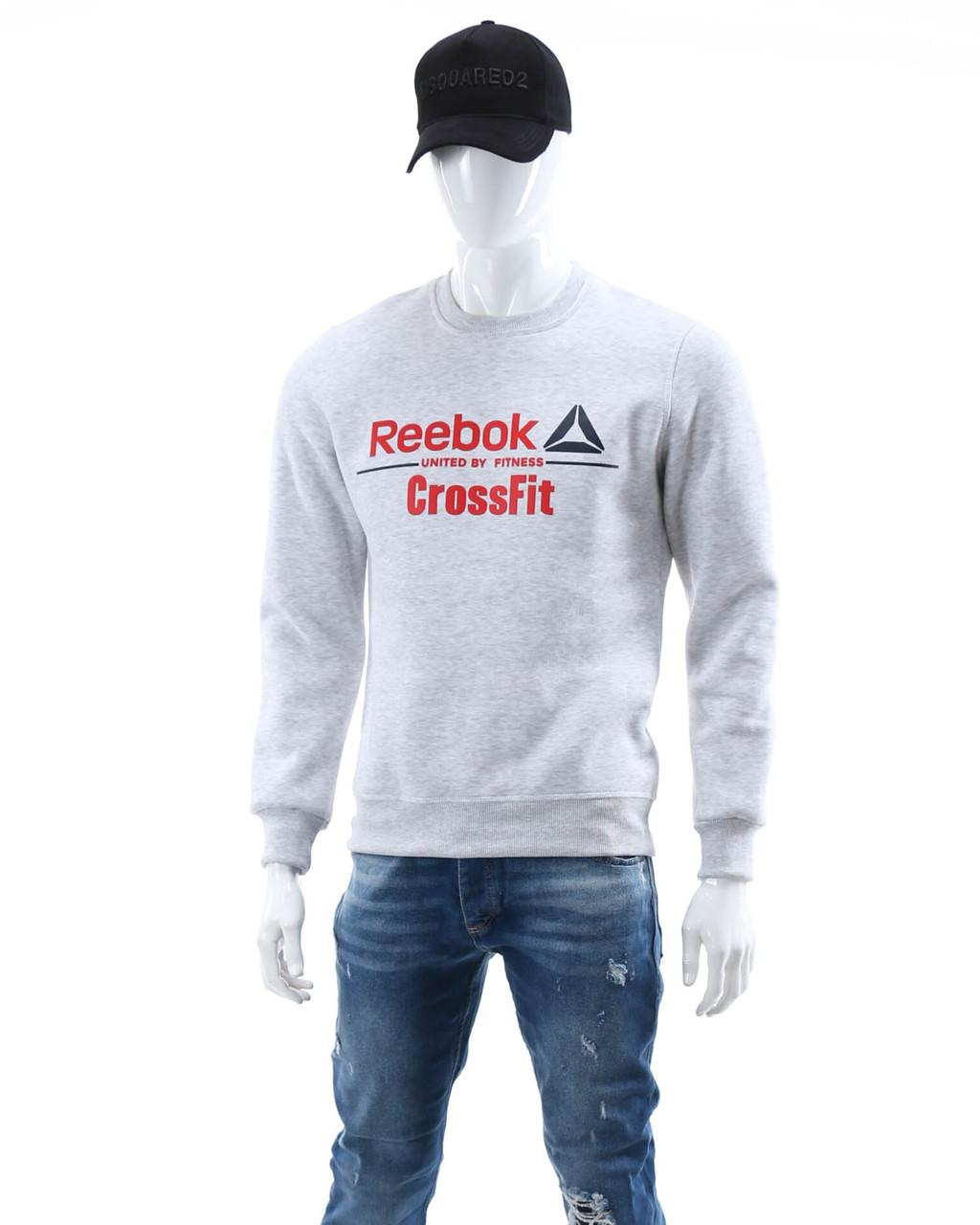 Свитшот осень-зима меланж REEBOK с лого GRI L(Р) 18-402-003