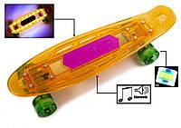 """Penny """"Fish Skateboard Original"""" Orange. Музыкальная и светящаяся дека!, фото 1"""