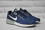 Кросівки чоловічі для бігу в стилі Nike AIR ZOOM STRUCTUR сині, фото 2