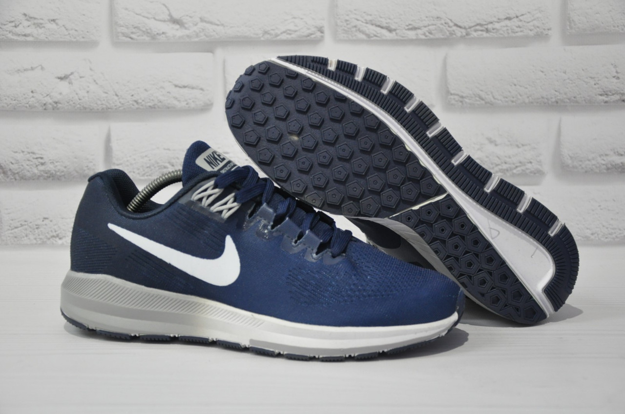 Кроссовки мужские для бега в стиле Nike AIR ZOOM STRUCTUR синие
