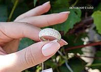 Серебряное кольцо Роскошь с россыпью камней, фото 1
