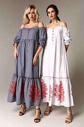Літнє плаття з бавовни в клітку в стилі бохо Raslov 106