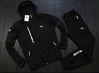 Спортивный костюм мужской Puma BMW Motorsport black весенний осенний | ЛЮКС качество