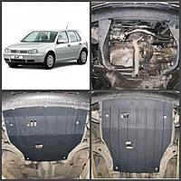 Защита двигателя Volkswagen GOLF 4 1997-2003 бензин (двигатель+КПП)