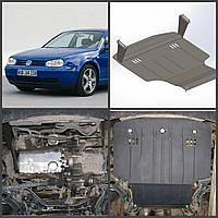 Защита дизельного двигателя на Volkswagen GOLF 4 1997-2003 годов выпуска (двигатель + КПП)