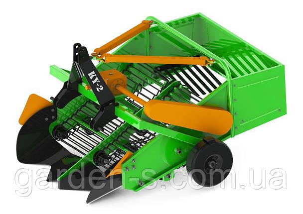 "Картофелекопалка транспортерная двухрядная КУ-2 ""Agrix"" (редуктор, защита от клина), фото 2"