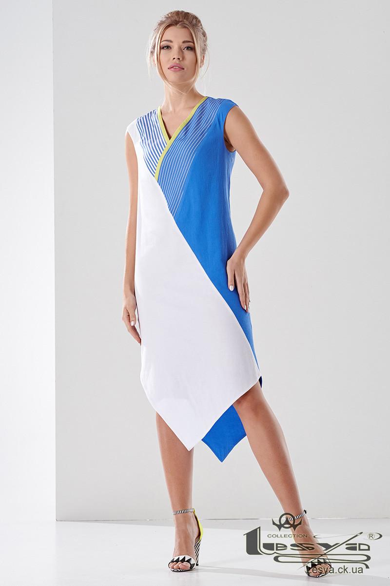 Платье свободного кроя с ассиметричным низом Lesya Лулу.