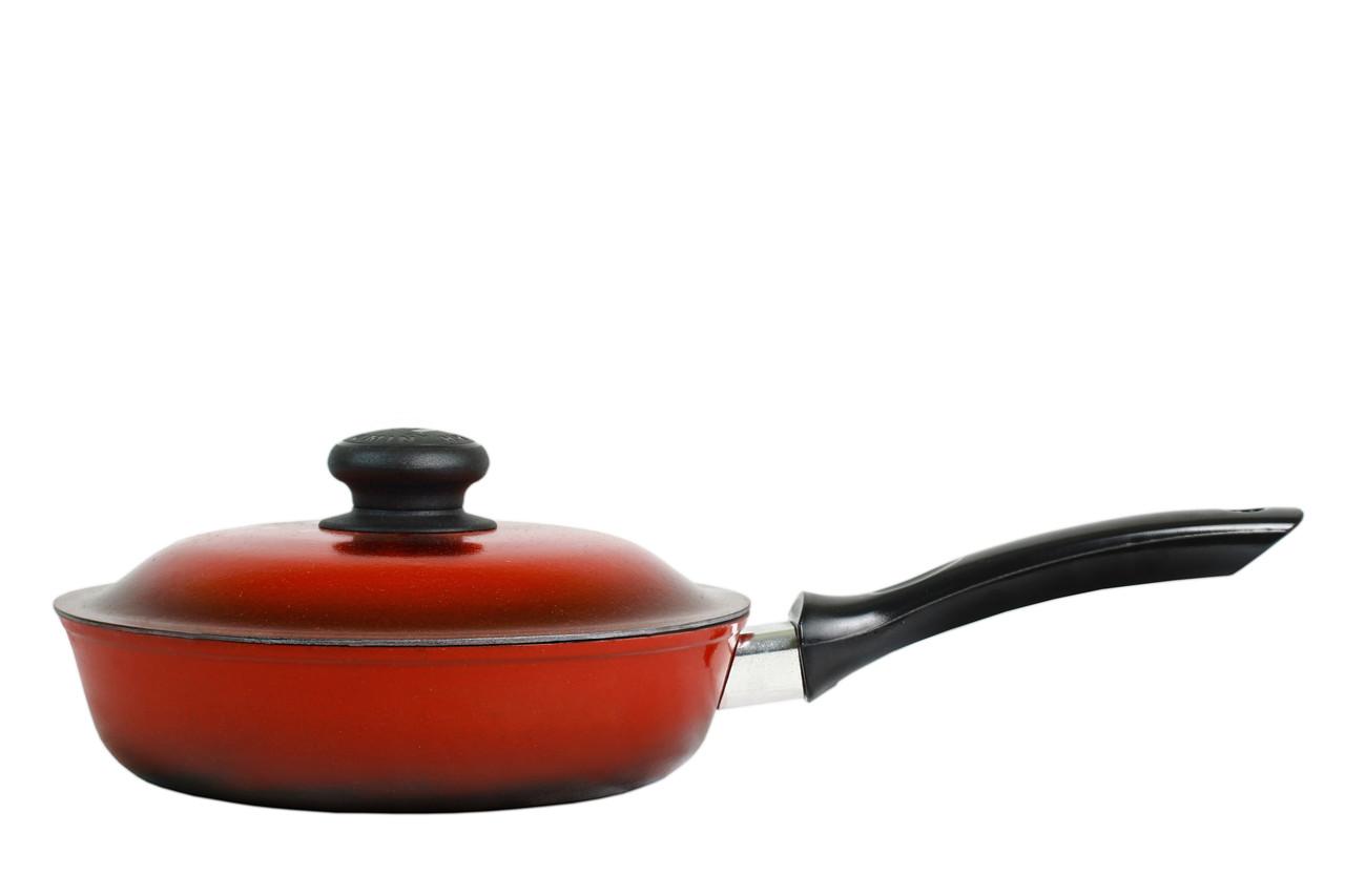 Сковорода 20 см эмалированная глубокая ЭС20трк
