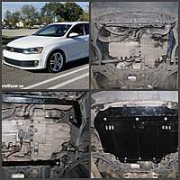 Защита двигателя  Volkswagen JETTA 2014- АКПП 1.4, 1.6D, 2.0 TDI (двигатель+КПП)
