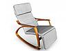 Кресло качалка Lukaro Brown, 120кг