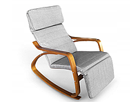 Кресло качалка Lukaro Brown, 120кг, фото 1