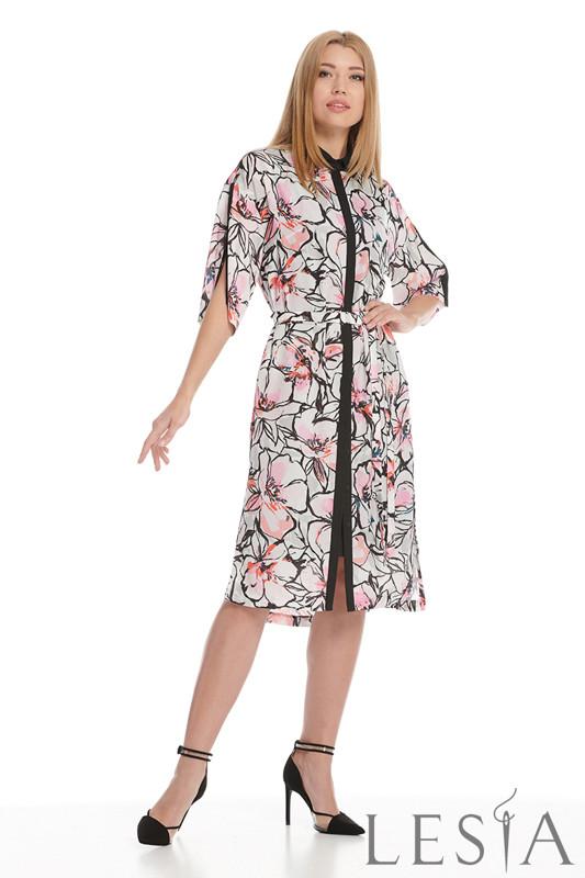 Сукня-сорочка в рослинний принт Lesya Шайна.