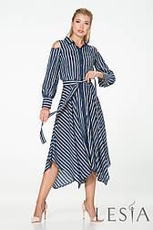 Смугасте плаття-сорочка з легкої натуральної тканини Lesya Ірану.
