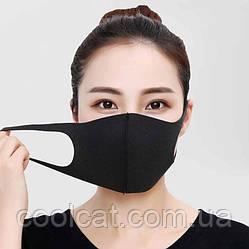 Защитная маска для лица, многоразовая / Маска черная