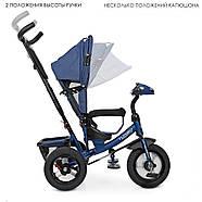 Велосипед трехколесный TURBOTRIKE M 3115HA-11L синий колясочного типа с игровой панелью, фото 2