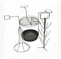 Набор аксессуаров для тандыра: елка, чугунная сковорода, решетка, насадка для птицы