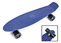 Penny Board. Темно-синий цвет. Матовые колеса., фото 1