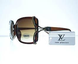 Очки женские Louis Vuitton солнцезащитные 8330 Коричневые