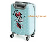 Дитяча дорожня валіза чемодан голубий Мінні Маус / minnie mouse 21 л S