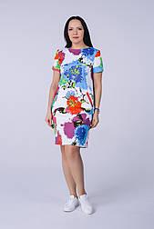 Пряме бавовняне плаття в квітковий принт Tell 6779